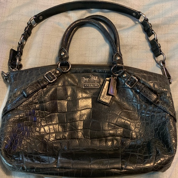 Coach Handbags - Authentic Coach Alligator Print Purse